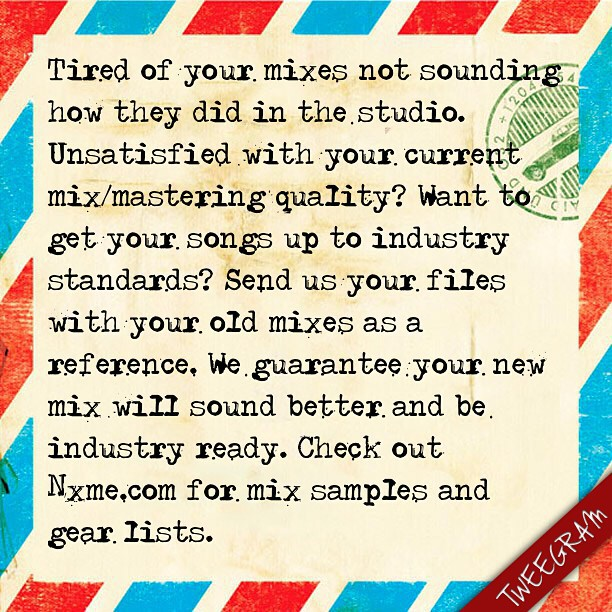 Tired of your mixes not sounding how they did in the studio. Unsatisfied with your current mix/mastering quality? Want to get your songs up to industry standards?   Book your studio session here http://KrushStudios.org  #Mixing #Mastering pic.twitter.com/bls7G4cHRG