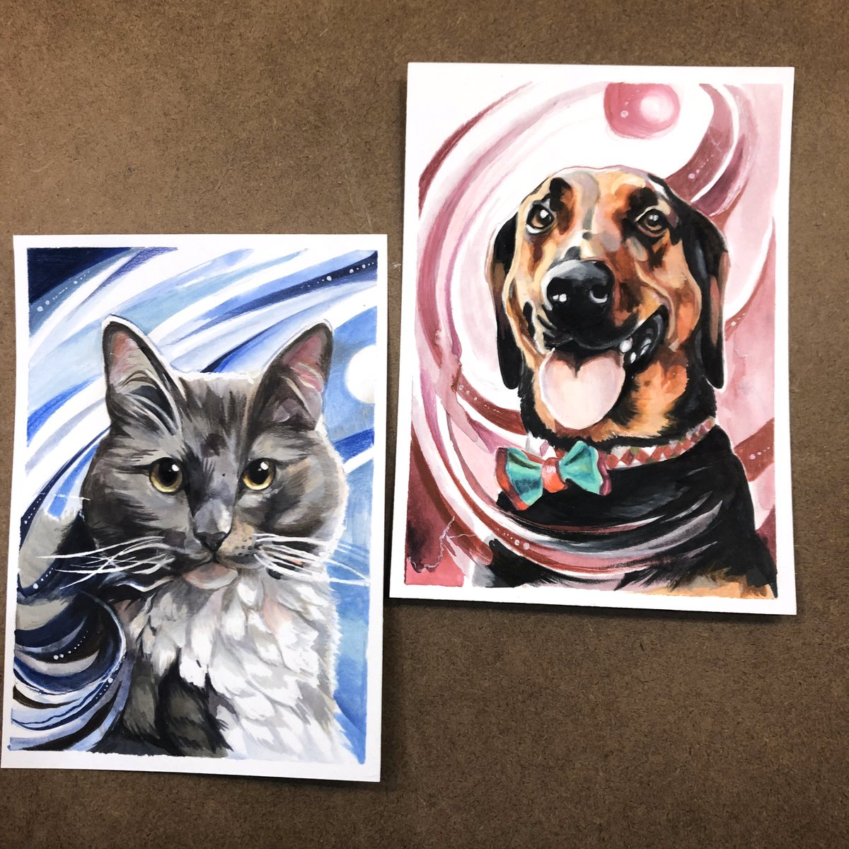 Day 95- Skylar and Walter  2 mini commissions for some good friends! <3  . . . #petportrait #dogdrawing #catdrawing #commission #illustration #watercolorpic.twitter.com/PcJIpWzPK8