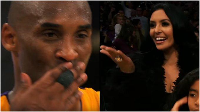 【影片】好愛好想你!瓦妮莎祝賀Kobe入選名人堂,曼巴夫婦飛吻一幕讓人淚目!