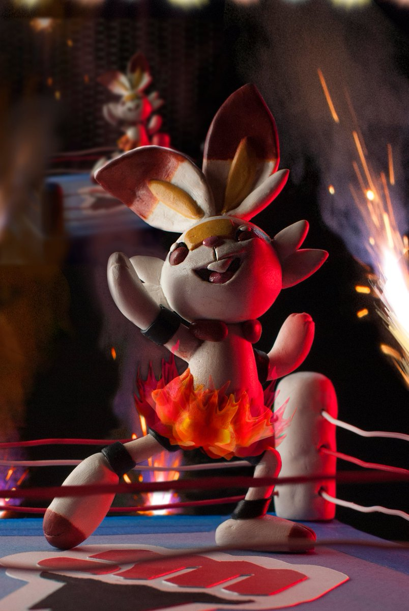 I had a lot of fun playing with fireworks for this photoshoot...but uh... does anyone want any sparklers? I ordered way too many and they burn out too quick.  #Pokemon #3dart #Scorbunnysquad #swordandshield #nintendofanartpic.twitter.com/vWO9rSrf9O