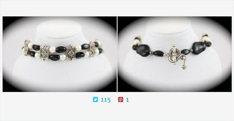#BlackWhite #Beaded #Bracelet Silver Metal Sliders with Crystal Center | @JazzitupwithDes  http://jazzitupwithdesigns.indiemade.com/product/beaded-bangle-bracelet-handmade-white-swarovski-pearl-black-glass … (Tweeted via http://PromotePictures.com )pic.twitter.com/BjE0a5sPe0