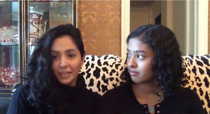 【影片】瓦妮莎再發聲表白Kobe,面對鏡頭強忍淚水,大女兒滿眼的都是心疼母親!