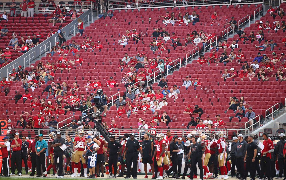 If you're confused how social distancing works, just imagine you're at a 49ers game anytime from 2014-2018