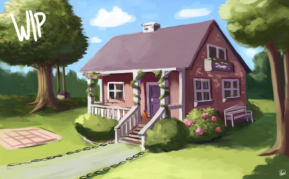 Some WIP I am currently working on. Man I wish I had a backyard right now :/   #workinprogress pic.twitter.com/JfLSJQ0sMF
