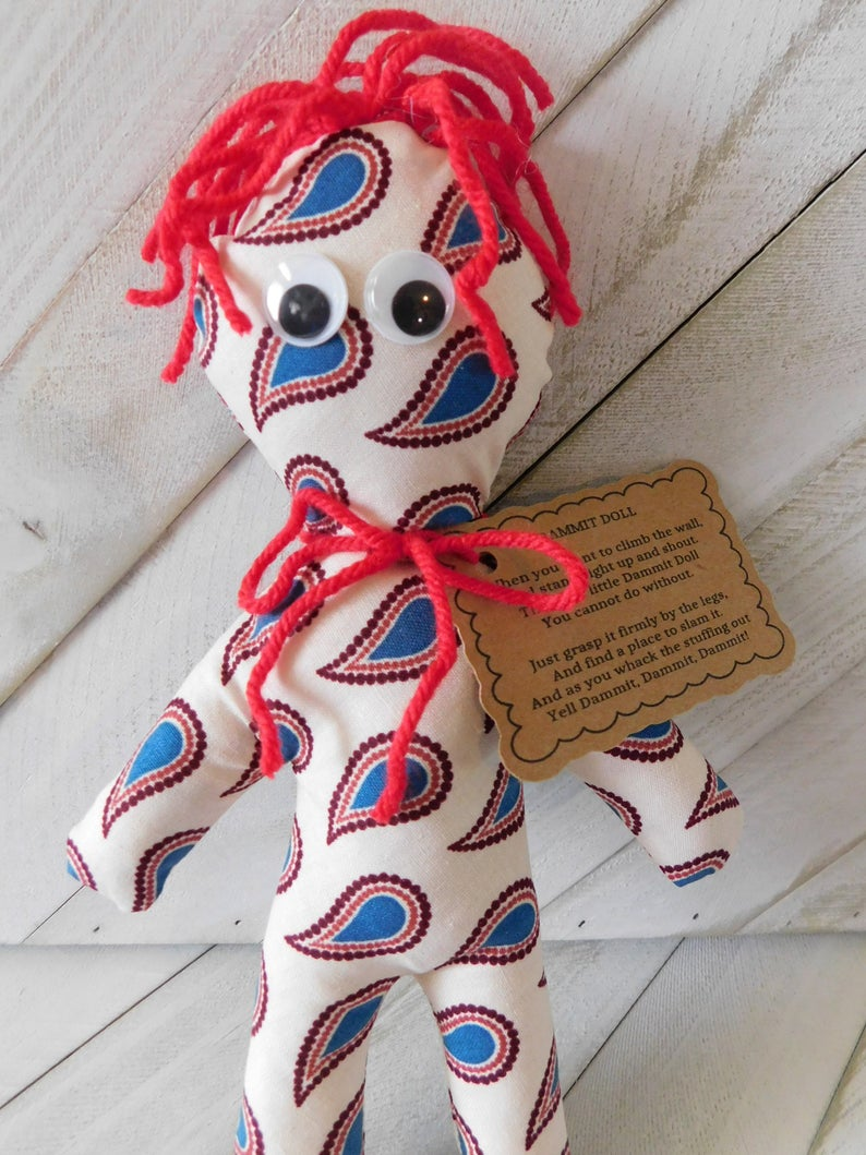 Paisley Dammit doll, 100% Ugly, Teenager Tested, Parent Approved, Gift Idea, 8 Inches Tall #RadBearsSheerMadness #bearssmileslaughs #paisleydammitdoll #handmadewithlove #aggressiondoll #frustrationreliever #shopetsy #shopsmallbusiness  https://etsy.me/2JRluwBpic.twitter.com/zVooBjSRa4
