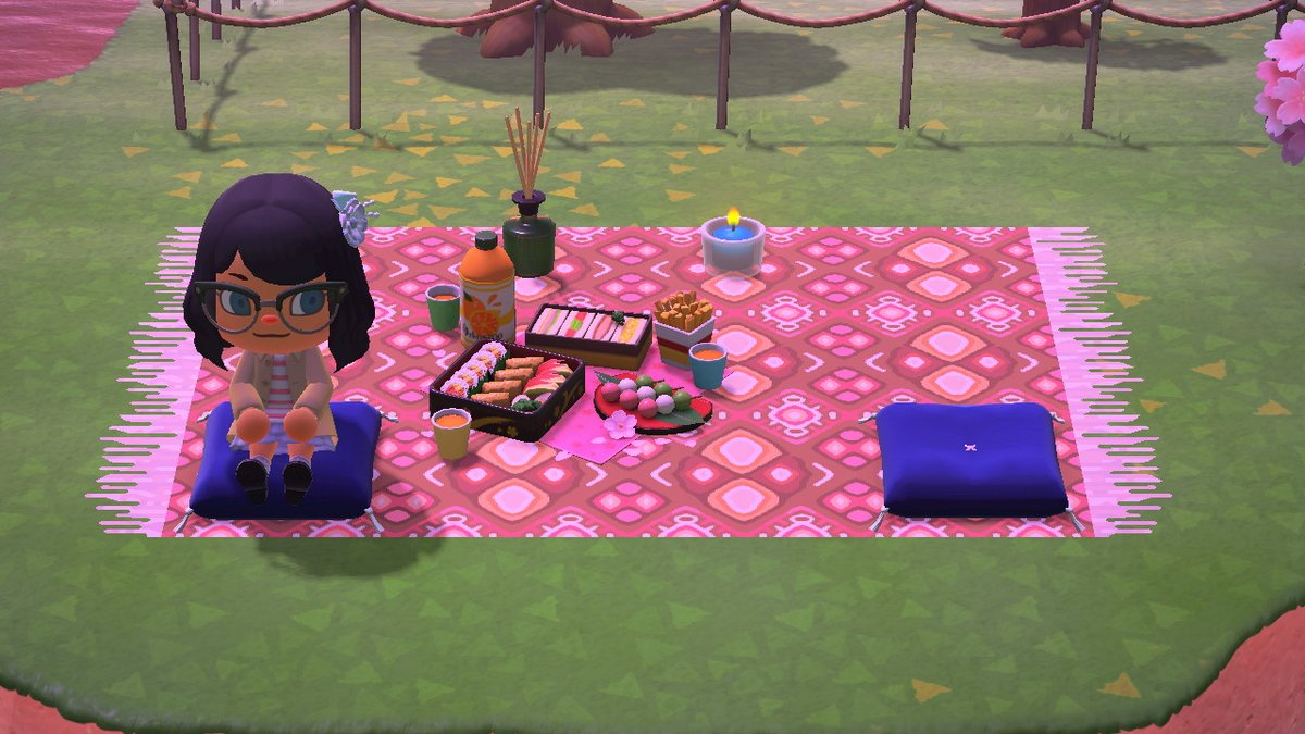 Gelly On Twitter Made A Pattern For A Picnic Blanket D Made Two Color Variations Cause I Liked Both Animalcrossing Acnh Nintendoswitch Https T Co Scvd7lsiuo