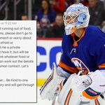 Image for the Tweet beginning: .@nyislanders goalie Thomas Greiss' job
