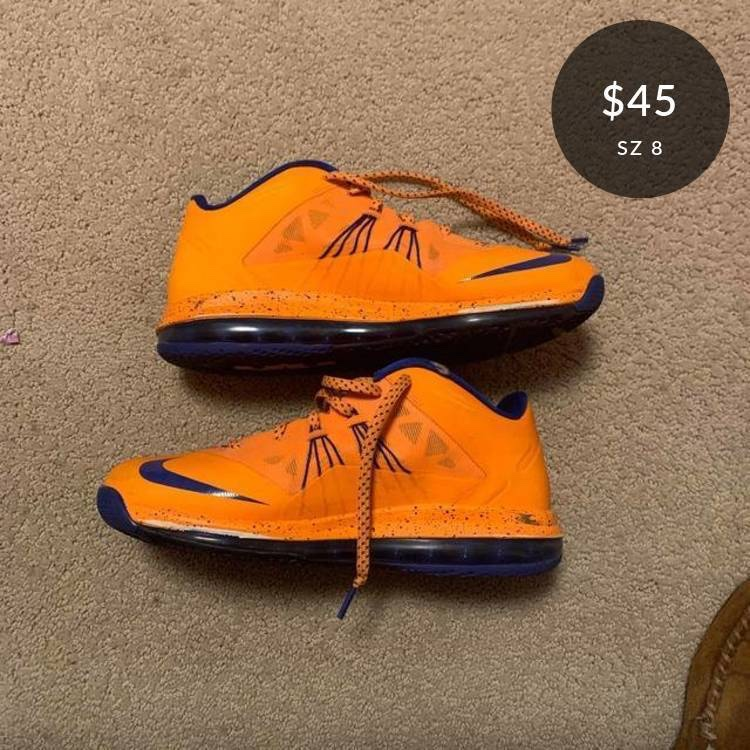 Check out this listing: Air Max LeBron 10 Low 'Knicks'  #GOATAPP