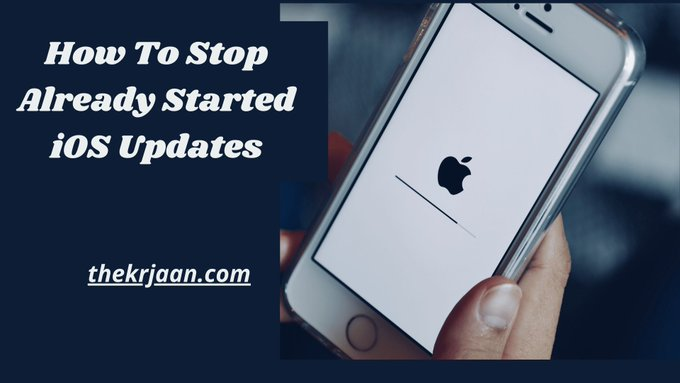 iOS Updates How To Stop Already Started iOS updates
