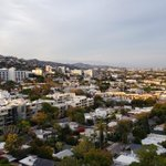 Image for the Tweet beginning: The view from West Hollywood