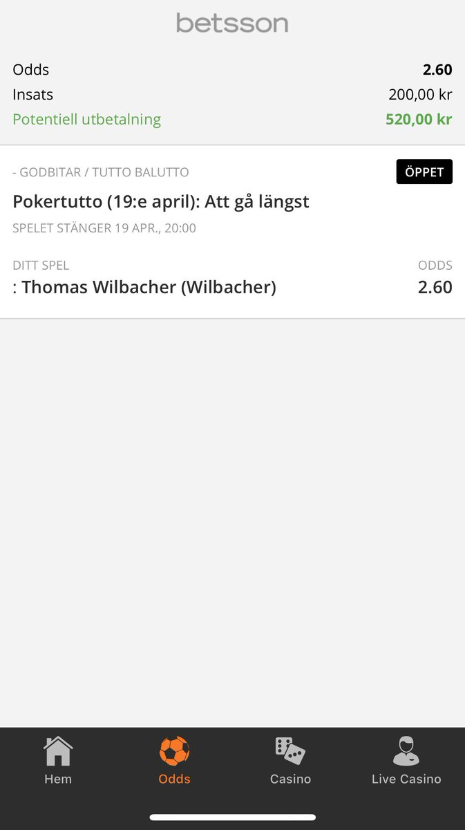 Wilbacher betting tips ebot bitcoins