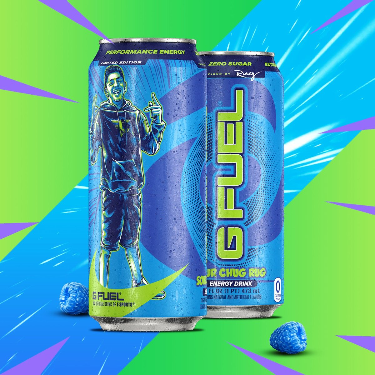 G Fuel On Twitter Icymi Our Fazerug Inspired Sour Blue Chug Rug Gfuelcan S Are Now Available Via Our Site Snag Yours Today At The Link Below As A 4 Pack Or 12 Pack