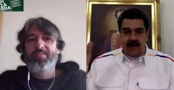 Pdte. Maduro con La Pizarra de Argentina: Venezuela enfrenta el Covid-19 con cuarentena voluntaria sin Toque de queda ni suspensión de garantías tinyurl.com/y7rufefh #YoSoyDeAqui #ResguardoFamiliar