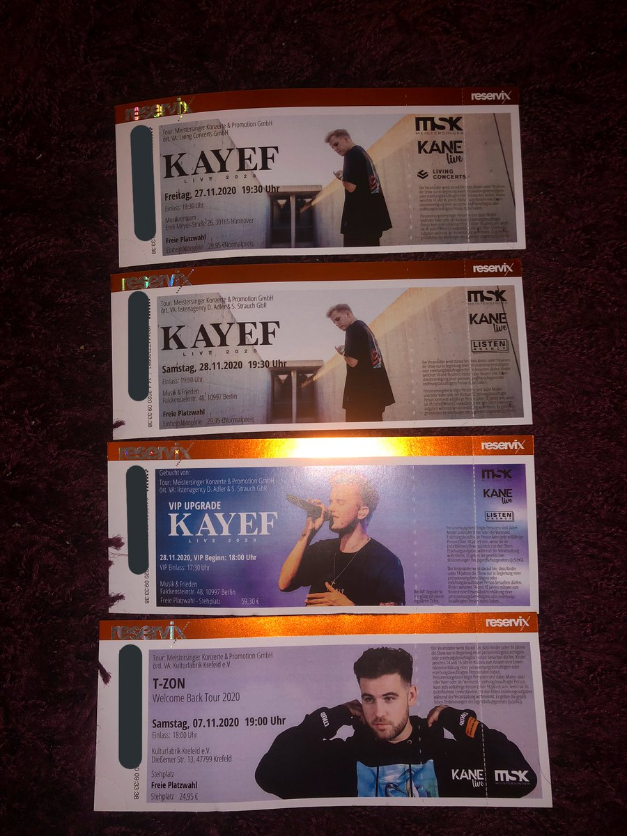Die Tickets sehen so schön aus & freue mich auf diese Zeit🥰🎉 @TZON57 @kayefofficial https://t.co/Js8h8AHKvi