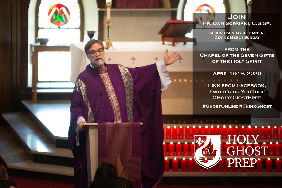 Join Fr. Dan Sormani, C.S.Sp. for mass this weekend, April 18-19, 2020: youtu.be/aj0xREsMhF8