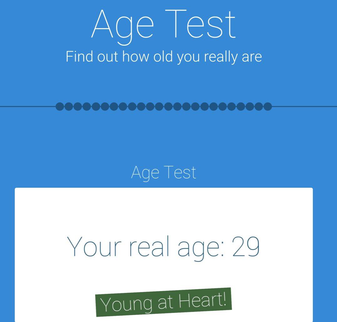 جربوا  اختبار العمر و خلونا نشوف ....   Age Test https://t.co/HGaINy3v0K.  (نتيجة اختباري👇🏻) https://t.co/yahhmdMZ9h