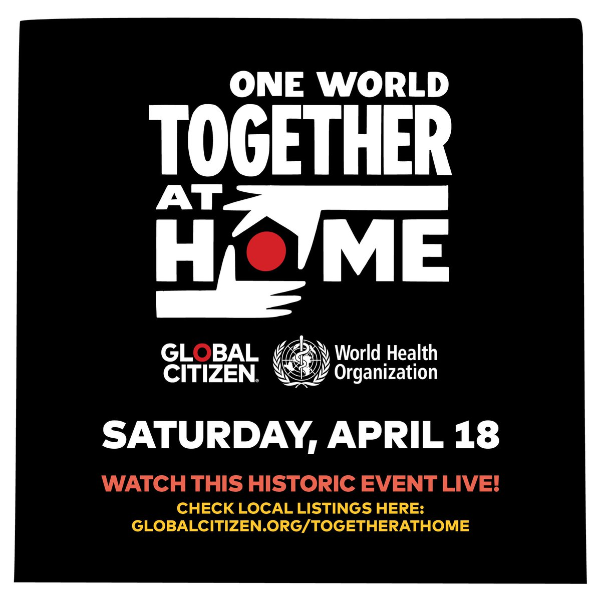 Healthcare workers on the frontlines of the COVID-19 crisis need our support. That's why I'm joining forces with @GlblCtzn and the @WHO for One World: #TogetherAtHome — a one-night special event on April 18. Join me and take action now:https://t.co/mGIm2bs1uZ https://t.co/jp7Tr5ZFCO