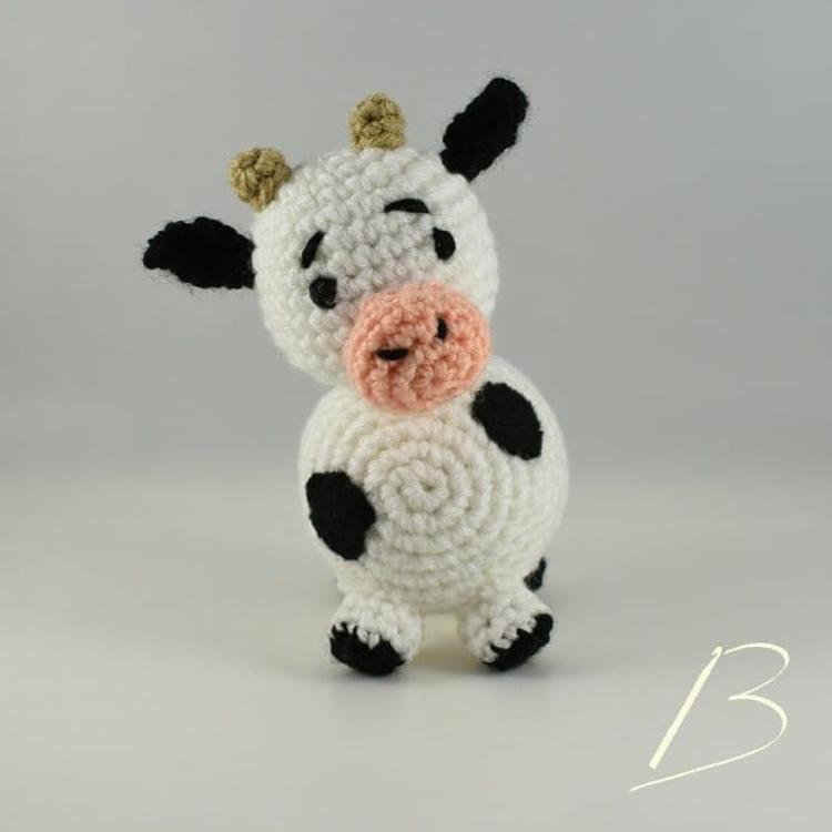 Mucca Uncinetto - Amigurumi Tutorial- Cow Crochet - Vaca Croche ... | 750x750