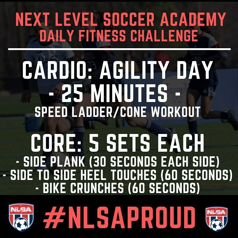 Today's agility day for our daily fitness workout. 25 minutes and use YouTube to find some ideas agility exercises with a ladder or cones! And then crush the 5 set core workout right after. Let's get it  #nlsaproud #agilityday #ladderworkout …  https:// instagr.am/p/B_Fw09tD_rB/    <br>http://pic.twitter.com/AXkMf4TCto