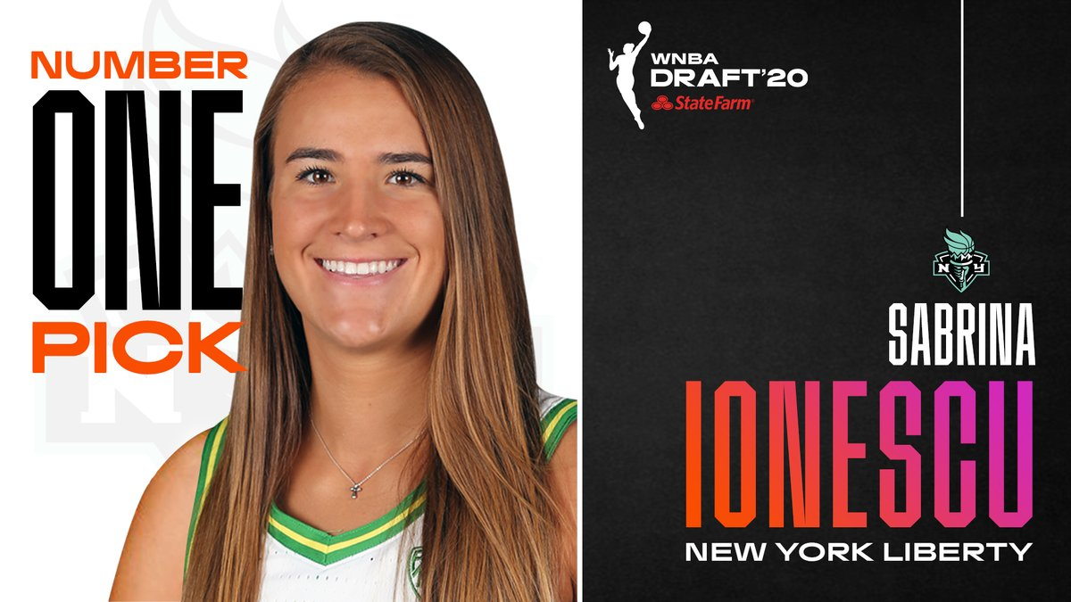 With the No. 1 pick in the #WNBADraft 2020 presented by @StateFarm, the @nyliberty select Sabrina Ionescu from @OregonWBB! https://t.co/n0nZmBFDtE