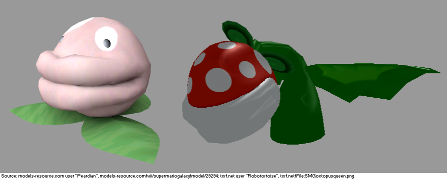 Unused Terrifying Looking Piranha Plant Enemies Found In Super