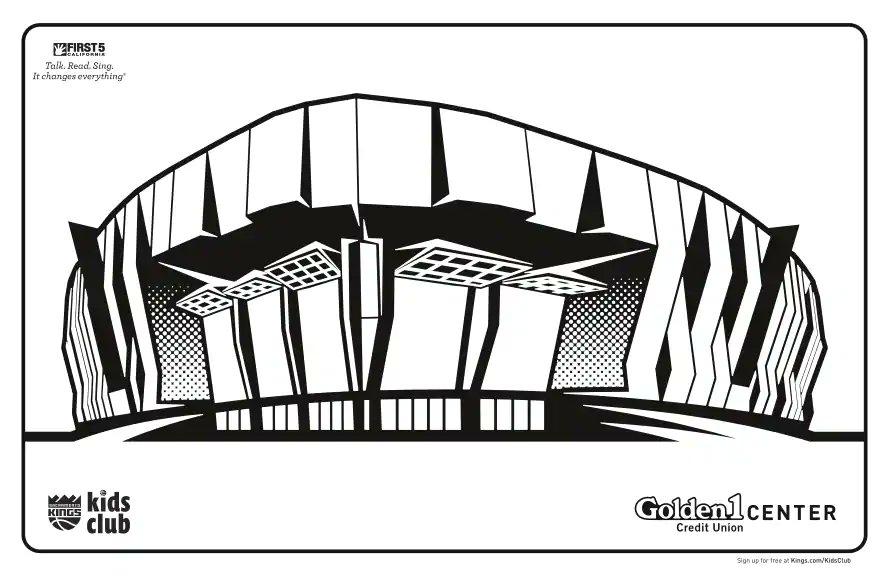 Time to get creating!  Reply to this tweet using #KingsColoringContest and your finished artwork of @Golden1Center 🎨 https://t.co/gwo4wEpLKq