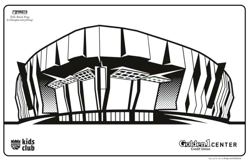 The @SacramentoKings offer up a coloring project of @Golden1Center and encourage people to reply to their tweet and tag it using #KingsColoringContest https://t.co/IANwX9zFfj