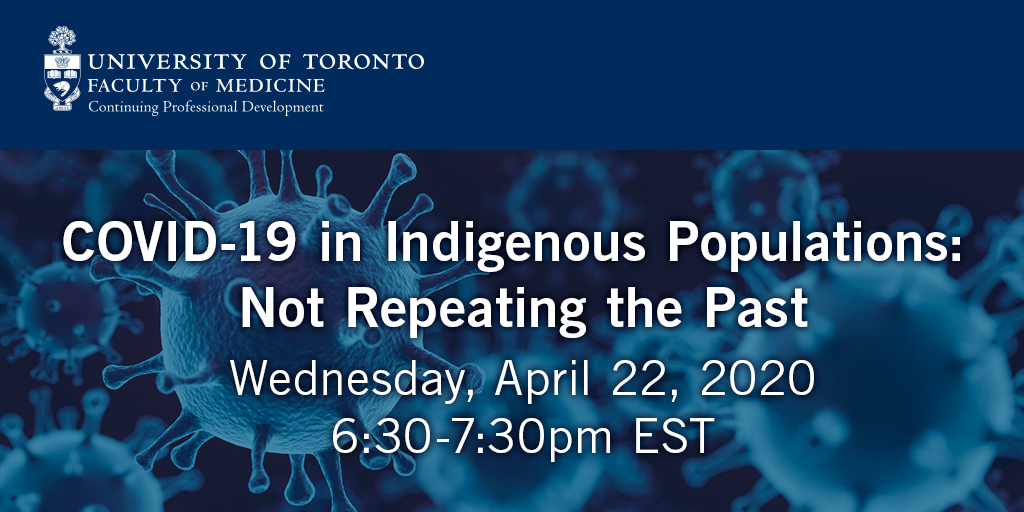 Webinar: Interested in learning about #COVID19 and it's current effect on Indigenous communities, their physical and emotional health, and more? Join us on Wed. Apr 22 at 6:30 pm EST for a free webinar led by Rodney Haring and Isadore Day. https://t.co/T4t11qDiMh https://t.co/UTPSSBjYsL