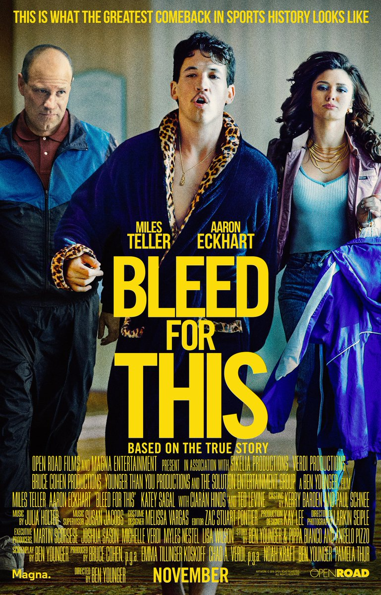 Take some time this weekend to checkout an inspirational #SportsFlixFriday #POTD from 2016...#BleedforThis! @Miles_Teller portrays light & middleweight champ @5XPAZ who had to fight his way back from a serious spinal injury. Overcoming odds is what makes a good #feelgood movie!pic.twitter.com/TlLJaGT59W