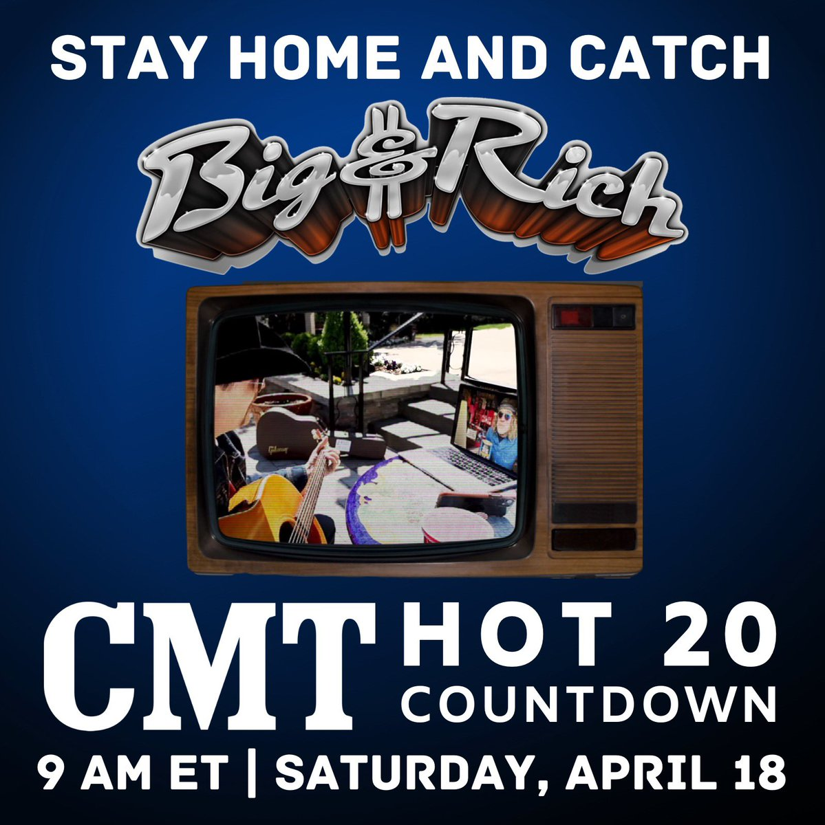 Catch us on the @CMT @cmtHot20 tomorrow morning! #bigandrich #cmt 🤠🎶🇺🇸
