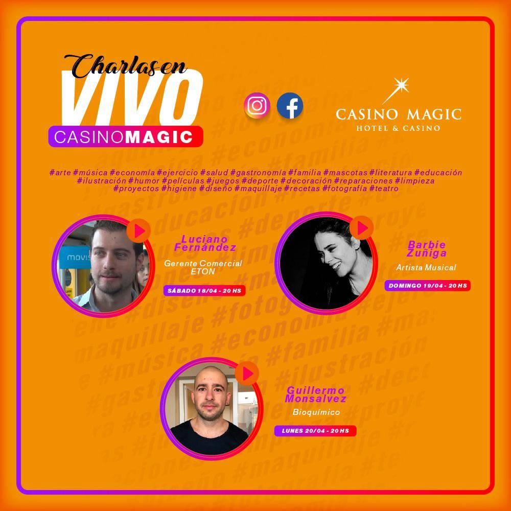 No te pierdas las proximas charlas por Instagram!!!  #CasinoMagic #Neuquen Todo lo que imaginabas y MÁS! https://t.co/G5nApyfict https://t.co/uKdTUAYjAd