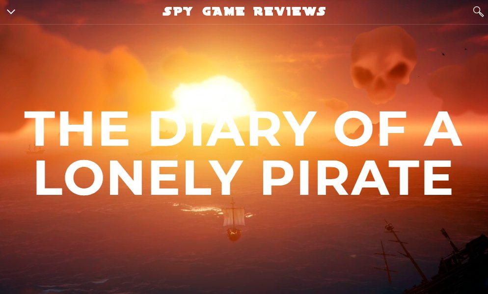 """After my last tweet, I started working on something to """"fill the void"""" while and when there are no games to review.  The Diary of a Lonely Pirate. A 5-minute read+watch blog about a Pirate in @SeaOfThieves!   I am having fun, hope to share a bit of joy. https://t.co/8GVzB9Vh0A https://t.co/eIovfHEegp"""