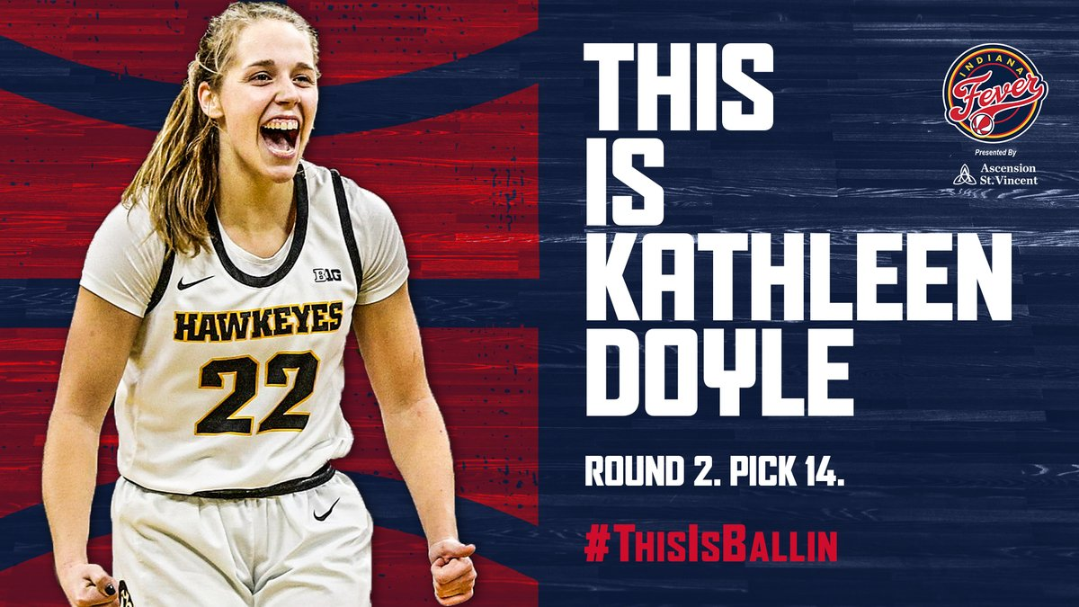 OFFICIAL: With the 14th pick in the 2020 @WNBA Draft, we have selected @IowaWBB's Kathleen Doyle!  Welcome to the family, @KDoyle_11 🙌  #ThisIsBallin x #WNBADraft https://t.co/5Off7GDU04