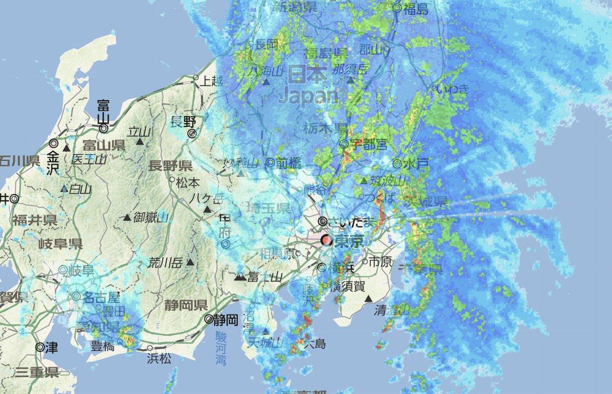 雨雲 レーダー 相模原