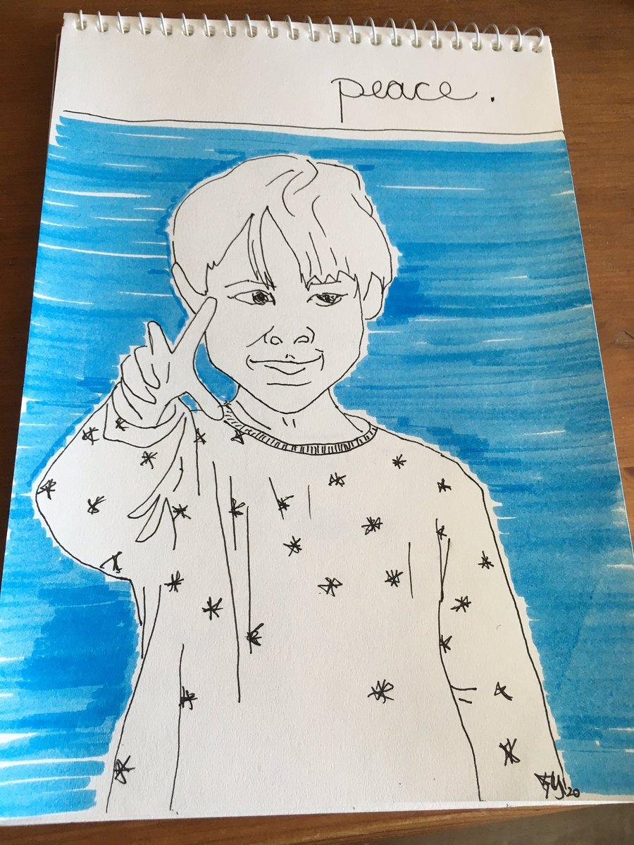 Junge mit #sternen #peace #onesketchaday #coronadetoxpic.twitter.com/J3LFWTgNnz