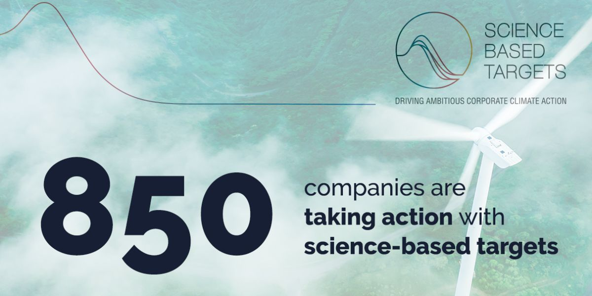 We've hit a milestone! Over 850 companies are working with the SBTi to set emission reduction goals grounded in science.   We're celebrating those companies making an ambitious commitment to a climate-safe future. Find out more & join them today: https://t.co/iXmFCiayxY https://t.co/ZNMcI7d9Qa
