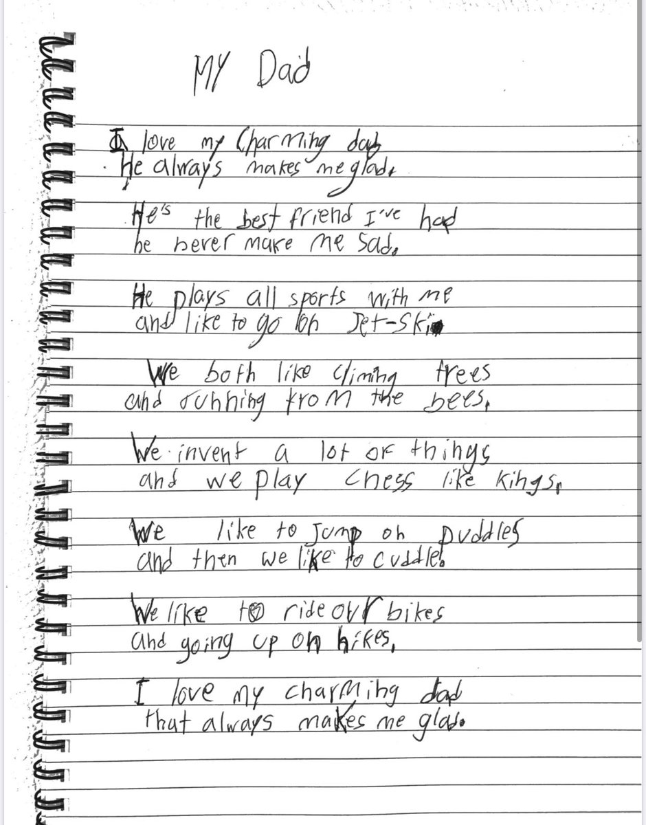 Poem by Milan. So proud of him! 😍