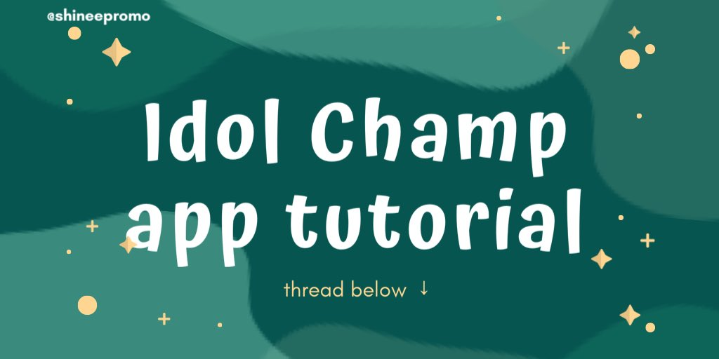 """「TUTORIAL」  ↳ how to vote on Idol Champ🏆  This app is used for 'SHOW CHAMPION"""" pre-voting! It counts as 20% of the final score.   It is also used for birthday projects and polls. https://t.co/HZNVPdRdH9"""