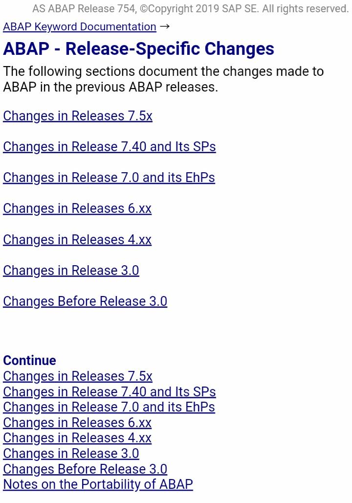 "Uživatel ˂⁽ˈ₍ ⁾˲₎だっきゅ@ABAPer na Twitteru: ""【ABAP 各リリース ..."