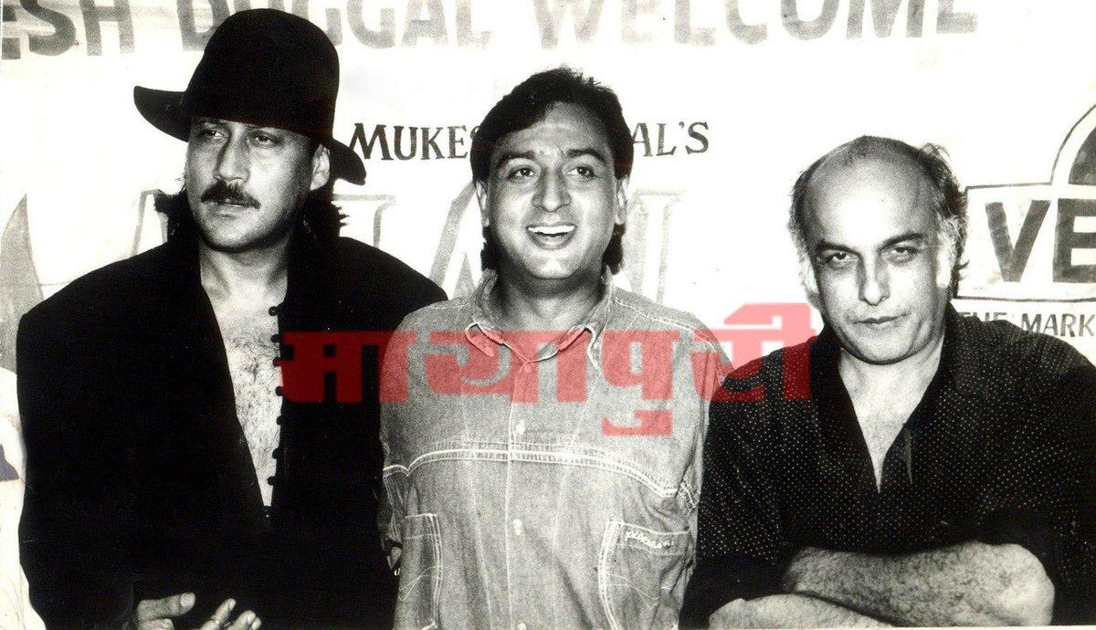 Lovely Trio, isn't it?   @GulshanGroverGG @bindasbhidu @MaheshNBhatt   #beautiful #amazing #maheshbhatt #jackieshroff #gulshangrover #memories #Bollywood #BollywoodCelebs #bollywoodmemories #Throwback #mayapuri #mayapurimagazine