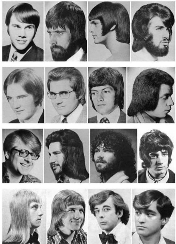 Cheer up ! Haircuts were not better in the seventies although there was no confinement and men didnt have to cut their own hair 😉😄