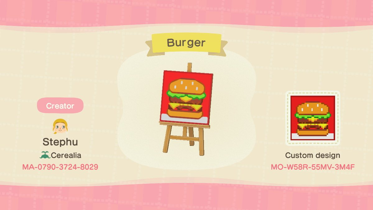 Stephu Animalcrossing On Twitter Burger Menu Animalcrossing Acnh Nintendoswitch