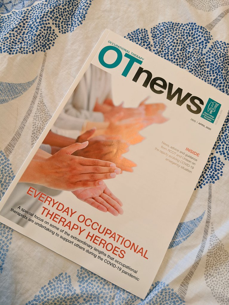 This months @OTnews magazine, packed with plenty of #COVID19 guidance, news and self-isolating #CPD activities. I will definitely keep this article forever as a reminder of this strange time across the world and particularly the healthcare sector #OTstudent #OTNews #healthcare