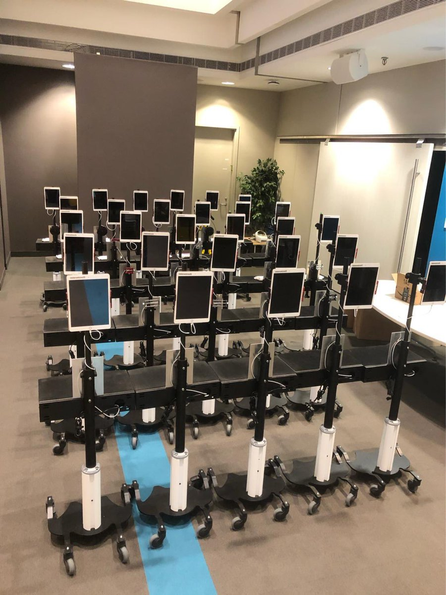 tCarts ready to rock and roll! Honoured to be part of this team as we roll out Telemedicine carts across our campus at @Baycrest #baycresthospital