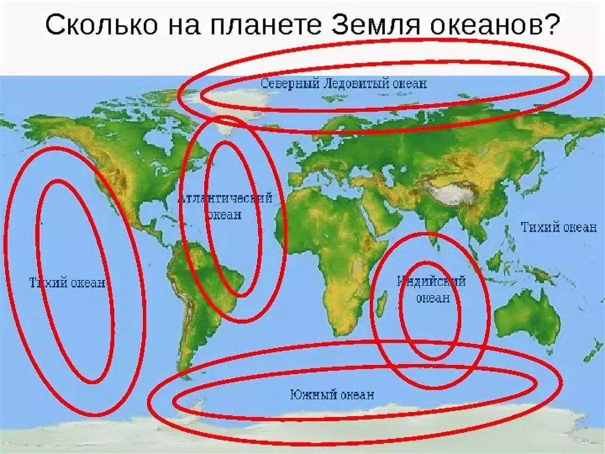 какой процент земли занята океанами