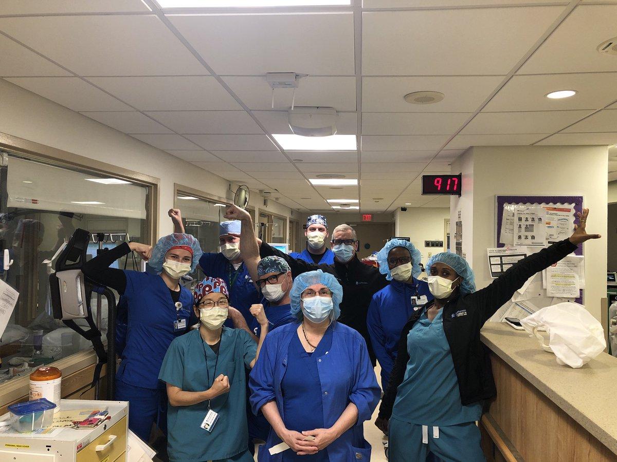 Jefferson's Amazing 3 MICU COVID team is ready for action (and morning rounds)#IMPRoud #COVIDWARRIOR #FRONTLINE @TJUHospital @JeffersonAlumni @JeffIMchiefs @ACPinternists  @RichWebsterTJUH @JeffersonUniv https://t.co/N1zj0HuaxB