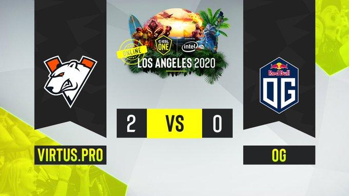 OG vs Virtus.pro ESL One Los Angeles Online