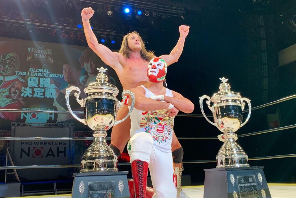 Hijo de Dr. Wagner Jr. se corona en Japón y hace historia en el Global Tag Team
