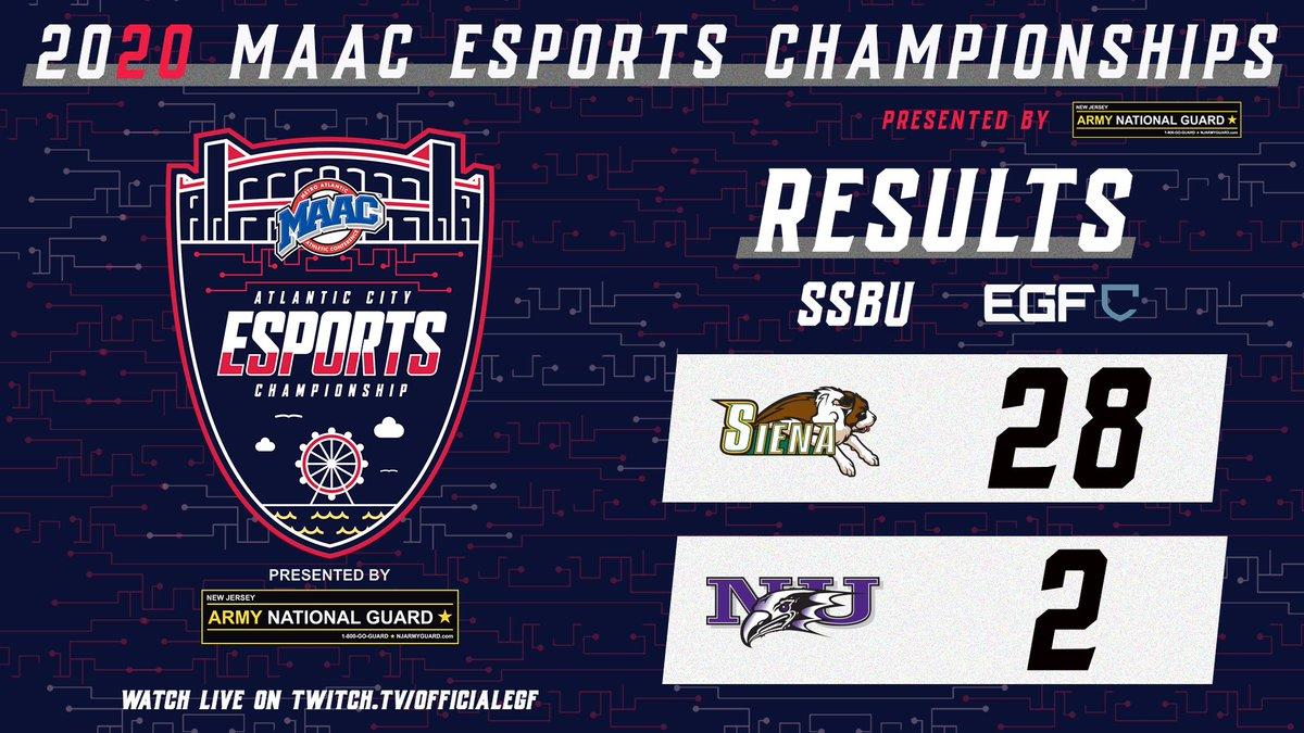 Domination. @EsportsSiena takes down Niagara to advance in the #SSBU bracket! #MAACEsports