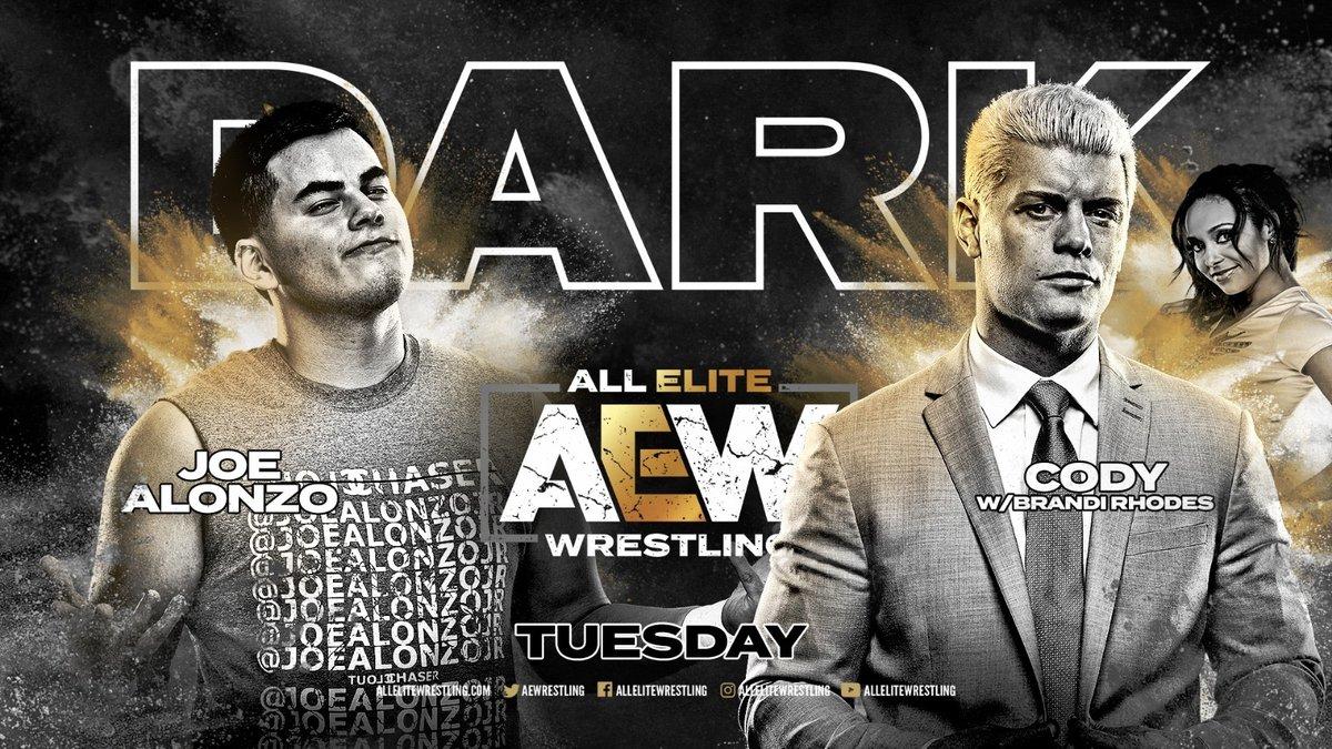 AEW Announces Cody Rhodes Vs. Joe Alonzo For AEW Dark